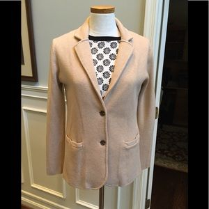 J Crew Mercantile knit blazer in camel